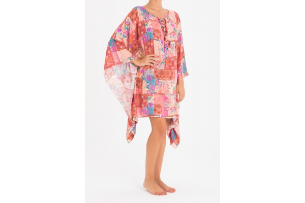 PONCHO PATCH ROSA