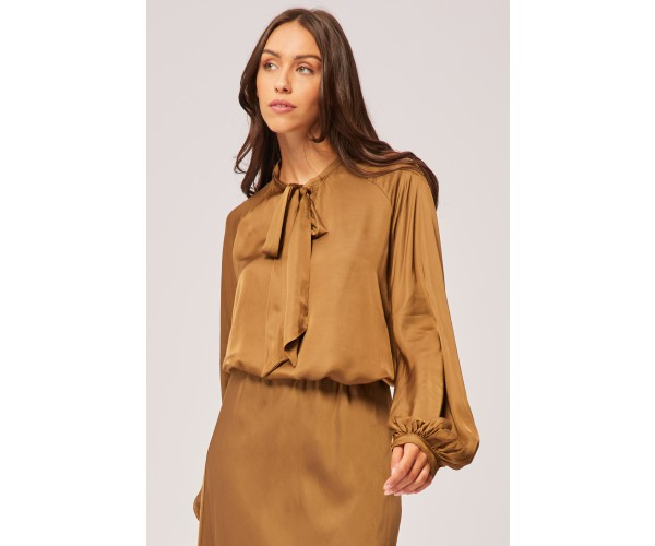 BOW BLOUSE OLIVE