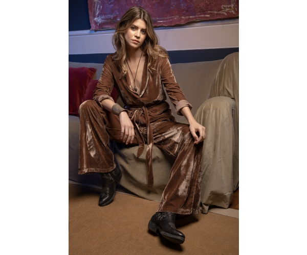 BROWN CHENILLE JACKET