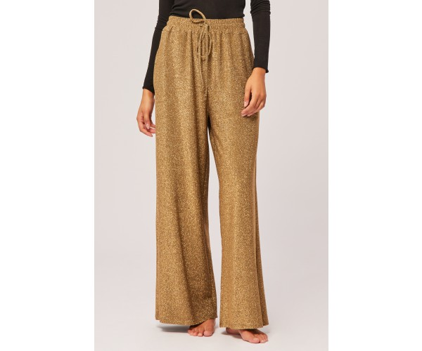 WIDE LUREX TROUSERS GOLD