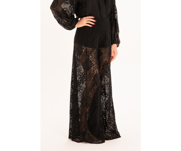 LACE TROUSERS BLACK