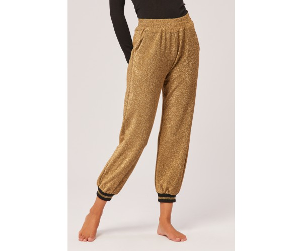 TIGHT LUREX TROUSERS GOLD