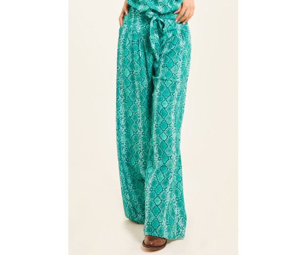 TROUSERS SNAKE GREEN