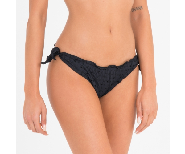 BRASILIAN BOTTOM WITH LACES SANGALLO BLACK