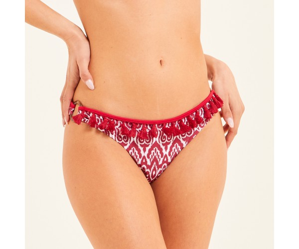 FIXED BOTTOM WITH RINGS BATIK RED/WHITE