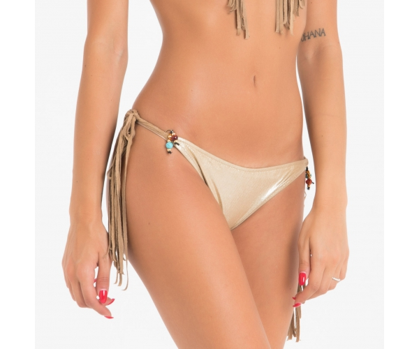 BOTTOM WITH LACES FRINGE CHEYENNE BEIGE